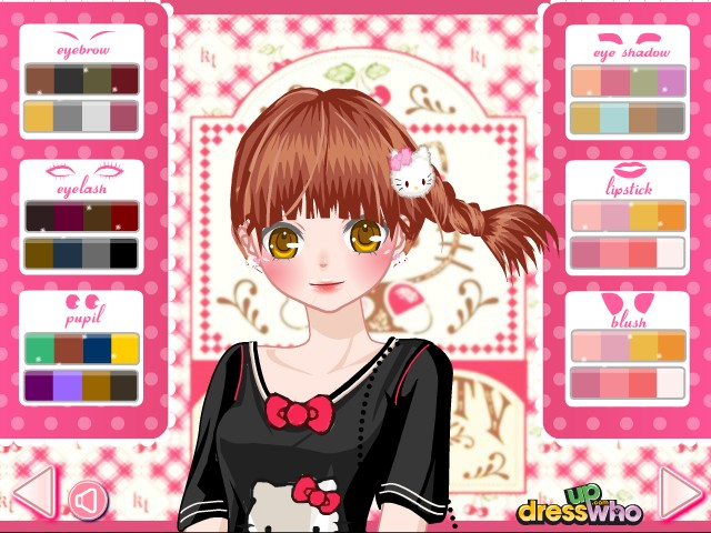 Hello Kitty Girly Dress Up game